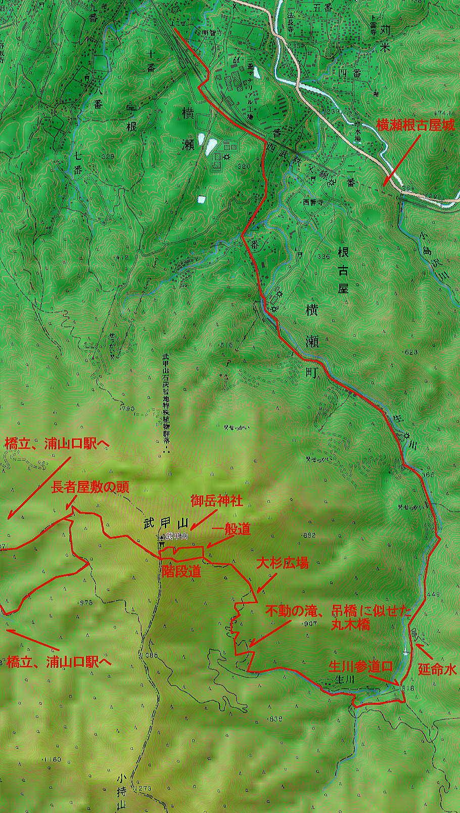 武甲山登山MAP